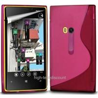 Housse etui coque silicone gel ROSE pour Nokia Lumia 920 + film ecran