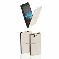 Housse etui coque cuir BLANC pour Sony Xperia Z + film ecran