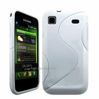 Housse etui coque silicone gel BLANC pour Samsung i9003 Galaxy S SCL + film ecran