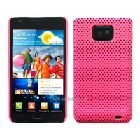 Housse etui coque perforee ROSE pour Samsung i9100 Galaxy s2 + film ecran