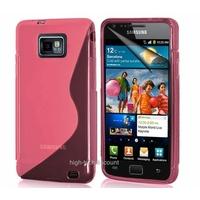 Housse etui coque silicone gel ROSE pour Samsung i9100 Galaxy S2 + film ecran