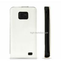 Housse etui coque cuir BLANC pour Samsung i9100 Galaxy s2 + film ecran