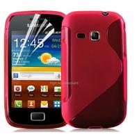 Housse etui coque silicone gel ROSE pour Samsung s6500 Galaxy Mini 2 + film ecran