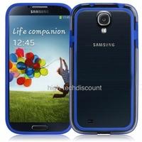 Housse etui coque bumper gel BLEU FONCE pour Samsung i9500 i9505 Galaxy s4 + film ecran