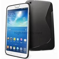 Housse etui coque gel pour Samsung p8200 p8210 Galaxy Tab 3 8.0 + film ecran - NOIR