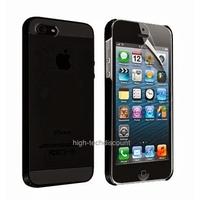 Housse etui coque fine rigide NOIR pour Apple iPhone 5 5S 5G + film ecran