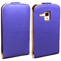 Housse etui coque cuir fine pour Samsung s7580 Galaxy Trend Plus + film ecran - BLEU