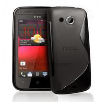 Housse etui coque pochette silicone gel pour HTC Desire 200 + film ecran - NOIR
