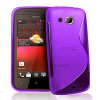 Housse etui coque pochette silicone gel pour HTC Desire 200 + film ecran - MAUVE