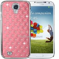 Housse etui coque chrome rigide pour Samsung i9500 i9505 Galaxy s4 IV + film ecran - ROSE CLAIR