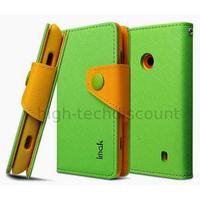 Housse etui coque portefeuille pour Nokia Lumia 520 + film ecran - VERT