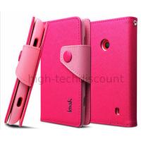 Housse etui coque portefeuille pour Nokia Lumia 520 + film ecran - ROSE FONCE