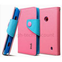 Housse etui coque portefeuille pour Nokia Lumia 520 + film ecran - ROSE CLAIR