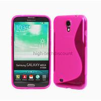 Housse etui coque silicone gel pour Samsung i9200 Galaxy Mega 6.3 + film ecran - ROSE