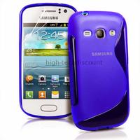 Housse etui coque silicone gel pour Samsung s6810 Galaxy Fame + film ecran - BLEU