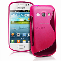 Housse etui coque silicone gel pour Samsung s6810 Galaxy Fame + film ecran - ROSE