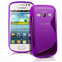 Housse etui coque silicone gel pour Samsung s6810 Galaxy Fame + film ecran - MAUVE