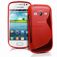 Housse etui coque silicone gel pour Samsung s6810 Galaxy Fame + film ecran - ROUGE