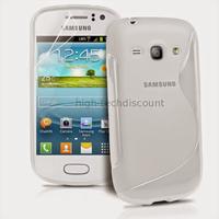 Housse etui coque silicone gel pour Samsung s6810 Galaxy Fame + film ecran - BLANC