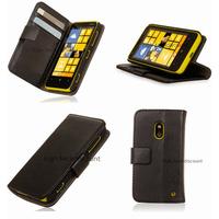 Housse etui coque portefeuille pour Nokia Lumia 620 + film ecran - NOIR