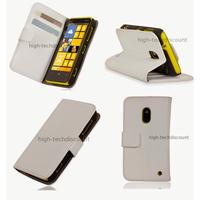 Housse etui coque portefeuille pour Nokia Lumia 620 + film ecran - BLANC