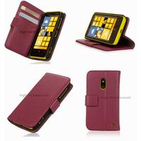 Housse etui coque portefeuille pour Nokia Lumia 620 + film ecran - MAUVE
