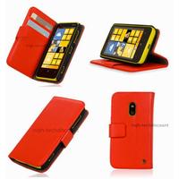 Housse etui coque portefeuille pour Nokia Lumia 620 + film ecran - ROUGE
