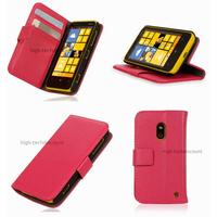 Housse etui coque portefeuille pour Nokia Lumia 620 + film ecran - ROSE