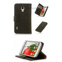Housse etui coque portefeuille pour LG Optimus L7 II 2 P710 + film ecran - NOIR