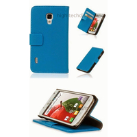 Housse etui coque portefeuille pour LG Optimus L7 II 2 P710 + film ecran - BLEU