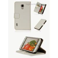 Housse etui coque portefeuille pour LG Optimus L7 II 2 P710 + film ecran - BLANC