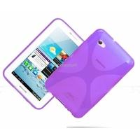 Housse etui coque silicone gel MAUVE pour Samsung p3100 p3110 Galaxy Tab 2 7.0 + film ecran