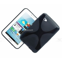 Housse etui coque silicone gel NOIR pour Samsung p3100 p3110 Galaxy Tab 2 7.0 + film ecran