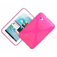 Housse etui coque silicone gel ROSE pour Samsung p3100 p3110 Galaxy Tab 2 7.0 + film ecran