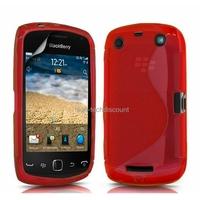 Housse etui coque silicone gel ROUGE pour Blackberry 9380 Curve + film ecran