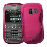 Housse etui coque silicone gel ROSE pour Nokia Asha 302 + film ecran
