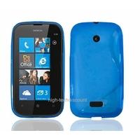 Housse etui coque silicone gel BLEU pour Nokia Lumia 510 + film ecran