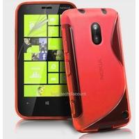 Housse etui coque silicone gel ROUGE pour Nokia Lumia 620 + film ecran