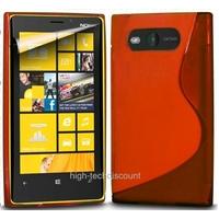 Housse etui coque silicone gel ROUGE pour Nokia Lumia 820 + film ecran
