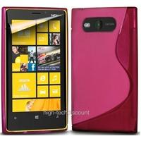 Housse etui coque silicone gel ROSE pour Nokia Lumia 820 + film ecran