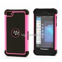 Housse etui coque anti choc rigide ROSE pour Blackberry Z10 + film ecran