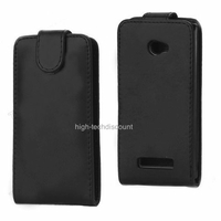 Housse etui coque simili cuir NOIR pour Windows Phone 8X by HTC + film ecran
