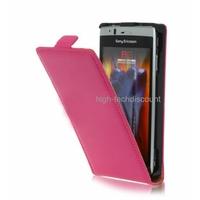 Housse etui coque cuir ROSE pour Sony Ericsson Xperia Arc / Arc S + film ecran