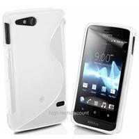 Housse etui coque silicone gel BLANC pour Sony Xperia Go + film ecran