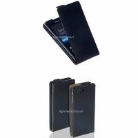 Housse etui coque cuir NOIR pour Sony Xperia J + film ecran
