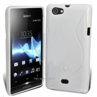 Housse etui coque silicone gel BLANC pour Sony Xperia Miro + film ecran