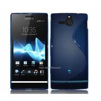 Housse etui coque silicone gel BLEU pour Sony Xperia U + film ecran