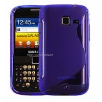 Housse etui coque silicone gel MAUVE pour Samsung b5510 Galaxy Y Pro + film ecran