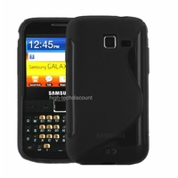 Housse etui coque silicone gel NOIR pour Samsung b5510 Galaxy Y Pro + film ecran