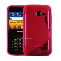 Housse etui coque silicone gel ROSE pour Samsung b5510 Galaxy Y Pro + film ecran